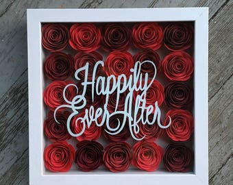 Happily Every After Flower Shadow Box