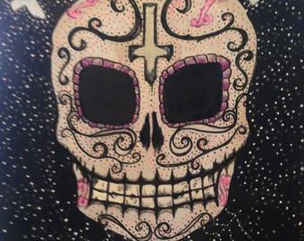 Sugar Skull {glow-in-the-dark}