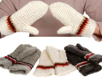 SALE mittens; hand knitted mittens; wool gloves; warm mittens; winter gloves; Christmas gift
