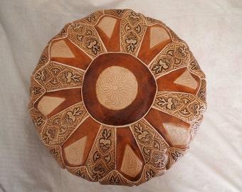 Moroccan pouf ottoman - Unfilled