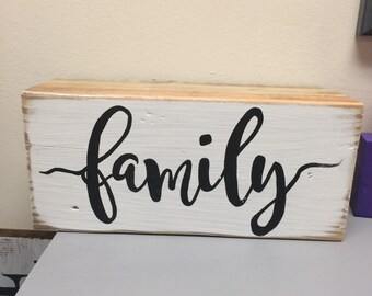 Wooden Block Sign on Reclaimed Wood