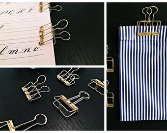 1x gift wrapping clip gold - 5,0cm