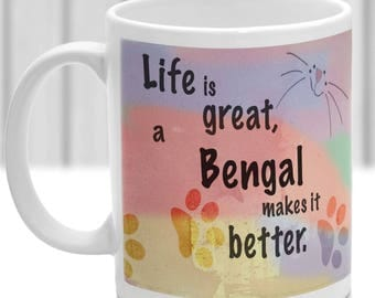 Bengal cat mug, Bengal cat gift, ideal present for cat lover