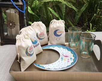 Ramadan Canvas Bags (set of 4)