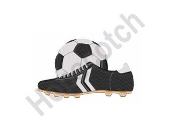 Soccer Ball & Shoe- Machine Embroidery Design