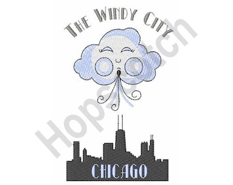 The Windy City - Machine Embroidery Design