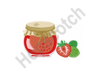 Strawberry Jam - Machine Embroidery Design