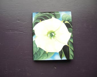 "Georgia O'Keeffe – One Hundred Flowers – 1987 Miniature Book 4"" x 5"""