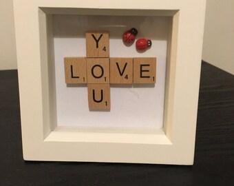 Love you with ladybug gift,anniversary, birthday