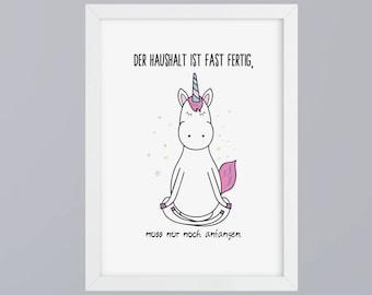 Unicorn / budget - unframed art print