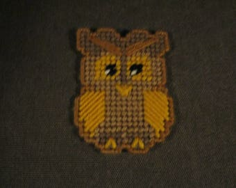 FREE SHIPPING choose color plastic canvas smarty owl magnets