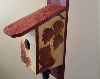 Autumn Leaves Birdhouse