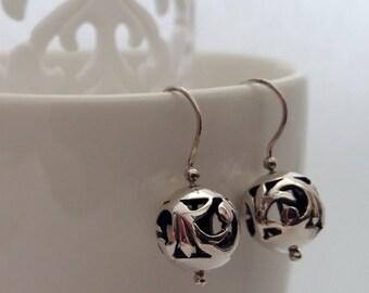 Beautiful Sterling Silver Earrings with Oriental Look Penelope, Sterling Silver Jewelry, Handmade in Spain, Oriental Look, Gift Idea