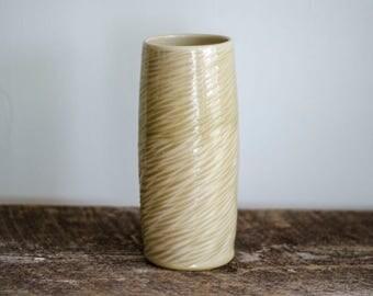 Gold Flower Vase,  Ceramic Flower Vase, Vase, Pottery vase, Ceramic vase, modern flower vase, Minimalist Vase, scandinavian design