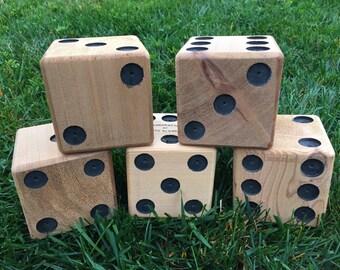 5 premium cedar yard dice for Yardzee