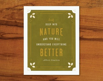 Look Deep into Nature Print