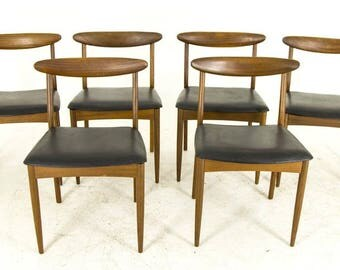 B505 Vintage Mid Century Modern 6 Teak Dining Side Chairs by G Plan
