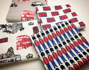 British Invasion, by Riley Blake, Fat Eight / Fat Quarter Bundle, quilting cotton fabric