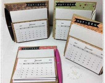 2017 calendar, desk calendar calendar, notes