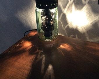 Pint Mason Jar Wax Warmer Punched Star Electric Wax Warmer with Box of (5) Melts