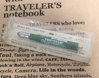 The 5th Anniversary of Traveler's Notebook Star Edition Brass Ball point Pen Midori Gift Free shipping Best Buy Made in Japan Limited Rare