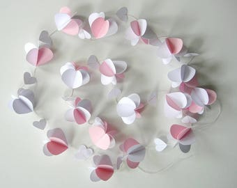 Paper hearts pendulum for a baby-child room, living room, wedding etc. Sale!
