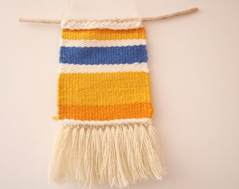 Handwoven Sunshine Wall Hanging