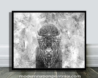 Buffalo Art Print, Buffalo Art Photo, Buffalo Art, Buffalo Art Poster, Instant Buffalo Art, Digital Buffalo Art, Buffalo Art Decor, Buffalo