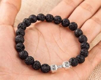 Fashion lava stone bracelet