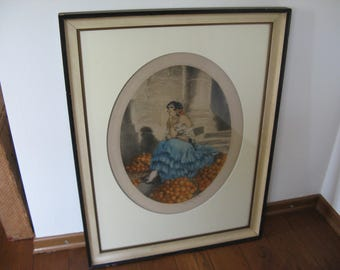 This beautiful original Icart etching is from 1929 (not replicas); Copyright and signed in pencil LOUIS ICART