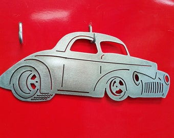 1940 Willys Coupe Metal Art