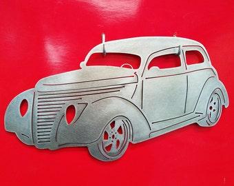 1938 Chevy Sedan Metal Art