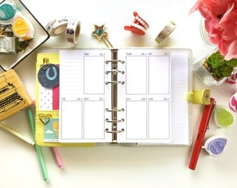 WO2 Vertical PRINTED Personal Planner Insert