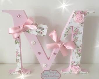 Handmade freestanding letters