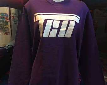 1980's Purple 90s clothing Sweatshirt 80s 90s Clothing Sweatshirt Windbreaker