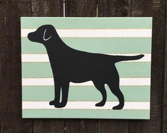Labrador Silhouette Painting