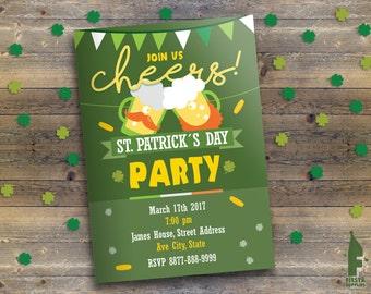 St Patrick Day Printable Invitation - St Patrick Parade Birthday Invitation -Saint Patrick Card - St Patrick Party Invitation -Digital File