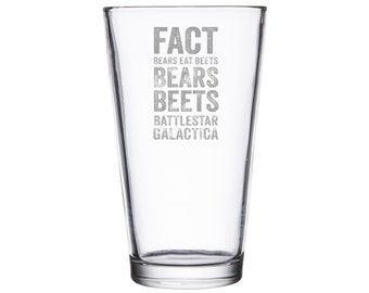 Bears, Beets, Battlestar Galactica, The Office-Tribute Drinkware/Barware