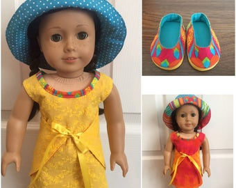 """18"""" reversible summer dress outfit"""
