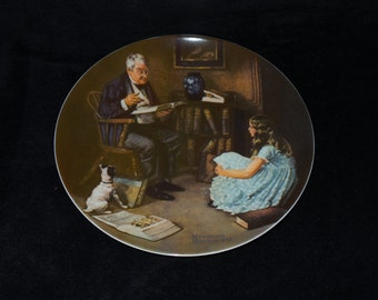 """1983 Knowles Rockwell Heritage """"The Storyteller"""" Collector Plate by Norman Rockwell"""