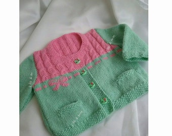 Cardigan/merino wool for baby girl
