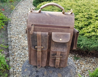 Leather Backpack Laptop Backpack woman backpack men backpack brown backpack travel backpack college backpack laptop backpack school backpack