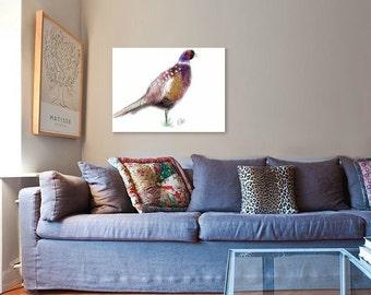Pheasant painting // A4 print // pheasant print // pheasant art print // A4 pheasant print // pheasant illustration // bird illustration