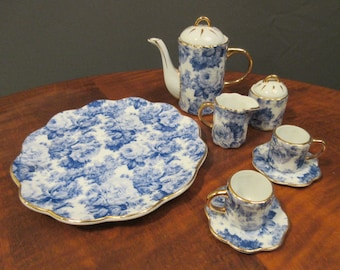 Baum Brothers miniature 8 piece tea set