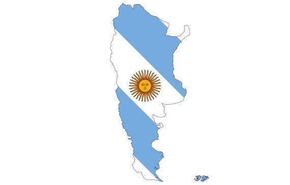 Argentina Flag Map Shape South America SVG EPS PNG Instant - Argentina map shape