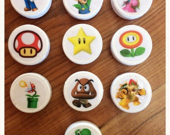 Super Mario Brothers Magnets - Gamer - Vintage - Fun