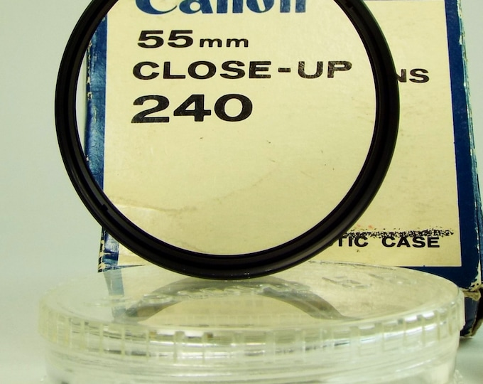 Vintage Canon 55 mm Close-Up Lens 240 - New Old Stock in Original Box - Perfect Mint Condition - For SLR Camera Lenses Both Film & Digital