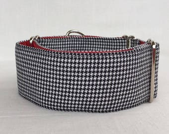 Houndstooth Collection Martingale Dog Collar