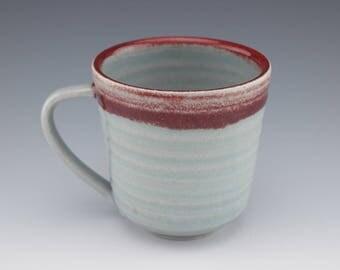 Ceramic Handmade Mug, Handmade Mug, Ceramic Coffee Mug, Coffee Cup, Studio Pottery Mug, Wheelthrown, 12 oz