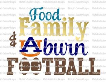 Food Family Auburn Football SVG file, Silhouette and Cricut